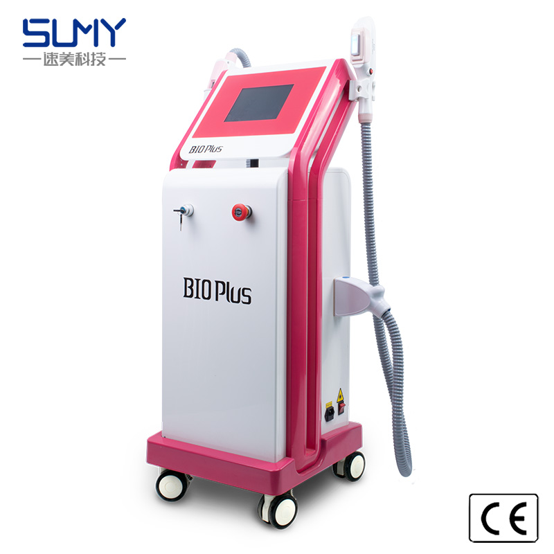 2 in 1  OPT + laser  hair removal  beauty machine